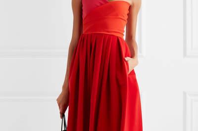 Más de 30 vestidos de fiesta rojos. ¡Rompe esquemas con tu look de invitada!
