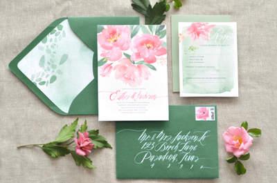 Románticas y elegantes como el otoño: así pueden ser tus invitaciones de boda