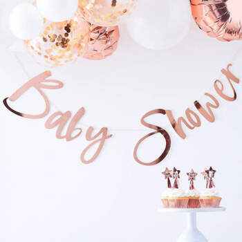 Guirnalda baby shower oro rosa- Compra en The Wedding Shop