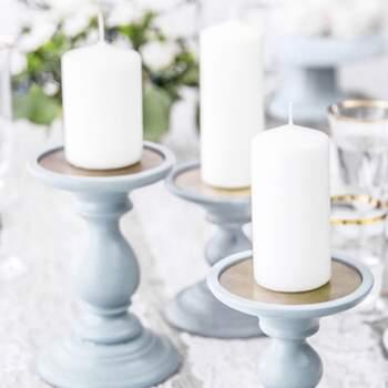 Bougie Décorative Blanche Opaque Petite 6 Pièces - The Wedding Shop !