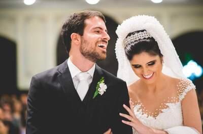 O Casamento Clássico de Fernanda & Leo: decoração ultra romântica e paisagismo maravilhoso!