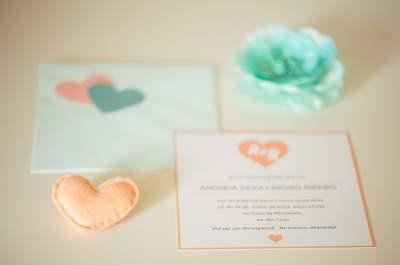 Real Wedding: Amor em verde menta e pêssego