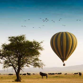 Os recém-casados ficaram no luxuoso Singita Faru Faru Lodge , em Grumeti, onde puderam usufruir de uma Reserva privada, passeios de balão de ar quente e passeios 4x4.  Foto: Singita Faru Faru Lodge