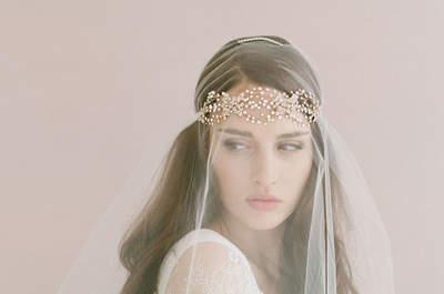 Peinados de novia con velo. ¡Luce uno de estos estilos el día de tu matrimonio!