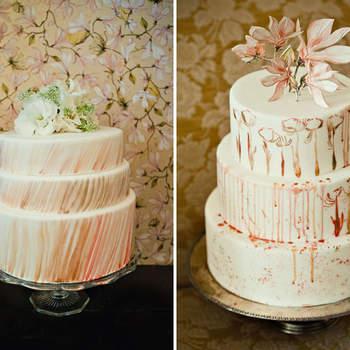 El pastel es uno de los protagonistas de tu boda. Te presentamos algunas ideas para que elijas el que más te guste y combine con el estilo de la decoración. Foto de Green Wedding Shoes