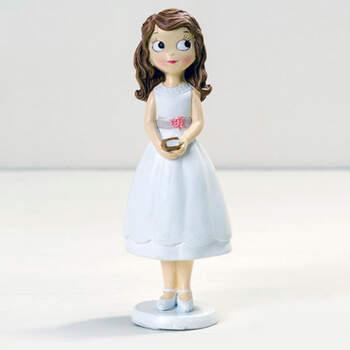 Figura para Tarta Comunión: Niña Vestido Corto- Compra en The Wedding Shop