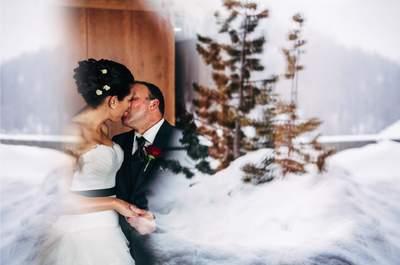 Modernes Wintermärchen: Danielle und Andy heirateten im verschneiten Arosa