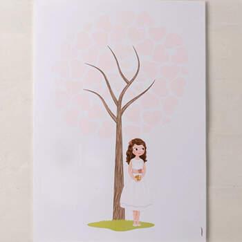 Libro de firmas huella chica con biblia- Compra en The Wedding Shop