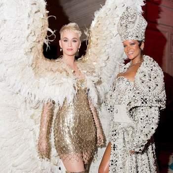 Katy Perry em Versace  e Rihanna em Maison Margiela: as rainhas da passarela | Foto via IG @worldsbestperrypie