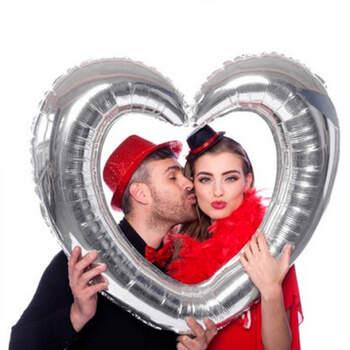 Corazón Hinchable Plata- Compra en The Wedding Shop