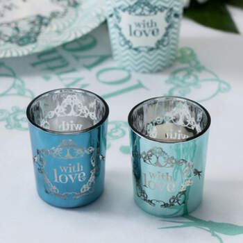 Recipiente para velas With Love 2 Unidades- Compra en The Wedding Shop