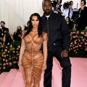 Kim Kardashian-West de Thierry Mugler y Kanye West. Credits: Cordon Press