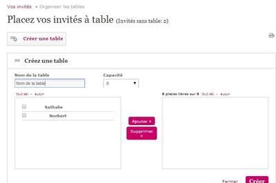 Zankyou vous aide à organiser vos tables d'invités pour votre mariage de rêve