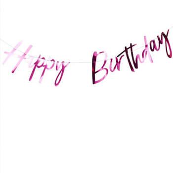 Gu- Compra en The Wedding Shopirnalda Inscripción Happy Birthday Fucsia