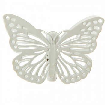 Mariposas marfil con pinza 4 unidades - Compra en The Wedding Shop