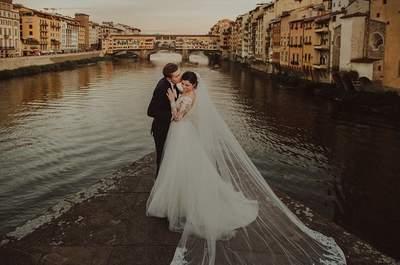 Sesja ślubna o smaku Toskanii i z widokiem na piękną Florencję. Wspaniała!