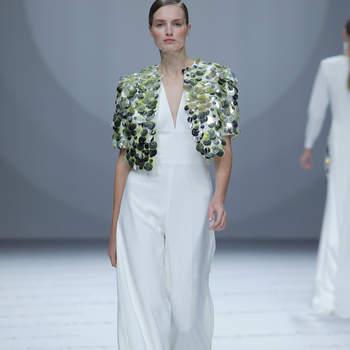 Isabel Sanchis. Credits: Barcelona Bridal Fashion Week.