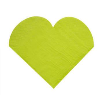 Servilletas Corazón Verde 20 Unidades- Compra en The Wedding Shop