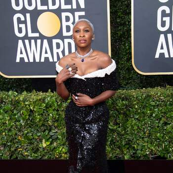 Cynthia Erivo de Tom Browne. Credits Cordon Press