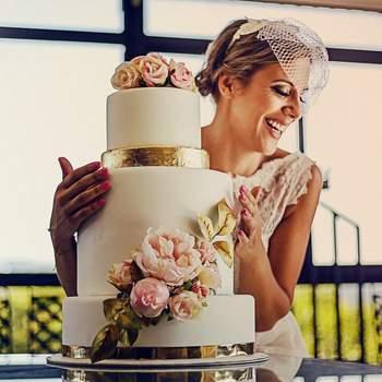 Inspiração para bolos de casamento de 3 andares | Créditos: Tempus Gulosos