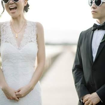 Demuestra el amor por tu novio con estas llamativas gafas de corazón. Foto: Sean Money & Elizabeth Fay