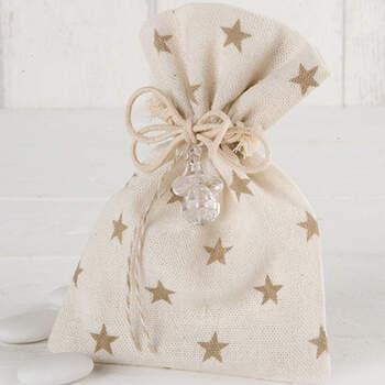 Bolsa De Algodón Para Almendras Estrellas Chupete- Compra en The Wedding Shop