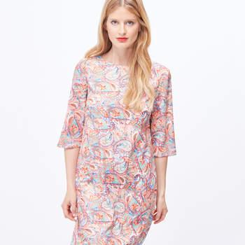 Vestido túnica estampado da Cortefiel (19,99€)
