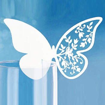Marcasitio papel mariposa blanca 10 unidades - Compra en The Wedding Shop