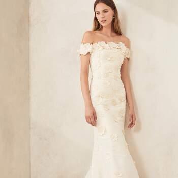 Oscar de la Renta Bridal Fall 2020. Foto: Cortesia de Oscar de la Renta.