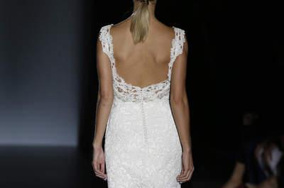 Vestidos de novia con impresionantes escotes en la espalda para 2016