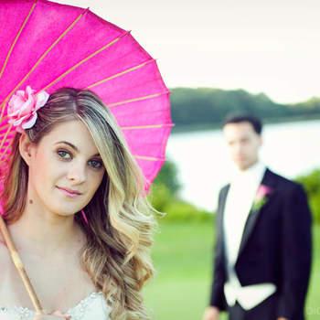 Pretty in pink-Inspirationen für ihr Hochzeitsfoto