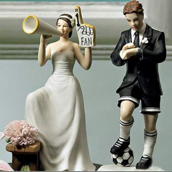 Cake Topper Supporters De Foot - The Wedding Shop !