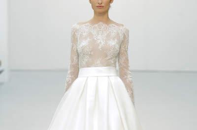60 wspaniałe sukni ślubnych z rozszerzanym dołem 2016: stwórz swój niepowtarzalny wygląd!