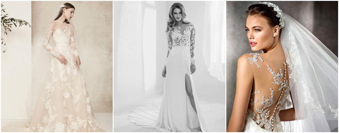 Vestidos de novia con transparencias y efecto tatuaje. ¡Lucirás radiante!