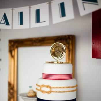 Esta tarta es elegante y marinera: perfecta para la ocasión. Foto: Cristina Brosnan