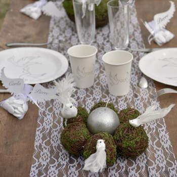 Camino De Mesa Motivos De Encaje 30 cm- Compra en The Wedding Shop