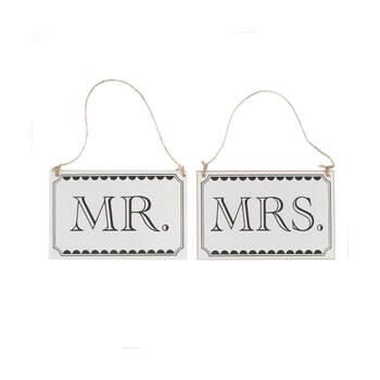 Cartel señor y señora.Compra en The Wedding Shop
