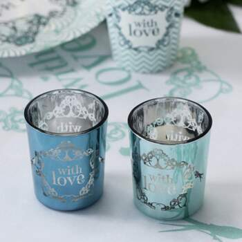 Bougeoir En Verre With Love 2 Pièces - The Wedding Shop !
