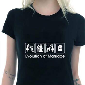 Camiseta negra wedding evolution- Compra en The Wedding Shop