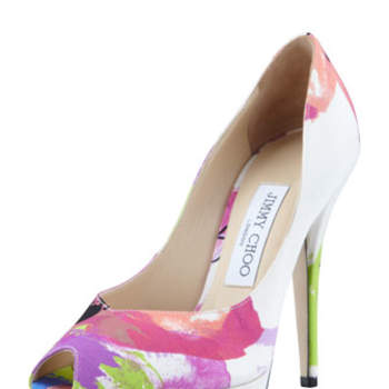 Open toe con stampa flower