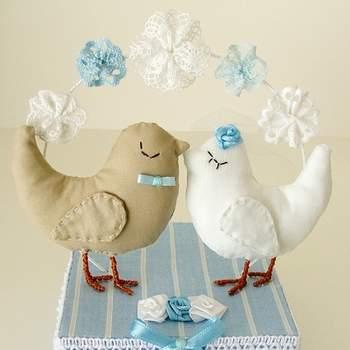 Für eine blaue Hochzeitstorte
