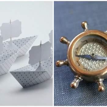 Fabrica tus invitaciones con divertidos barcos de papel y obsequia con detalles nauticos a tus invitados. Foto: Nana Zoolan & The Hidden Chamber