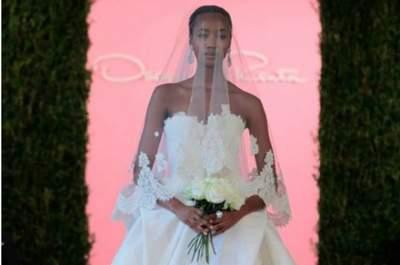 Wyjątkowe suknie ślubne Oscar de la Renta z pokazu w Nowym Jorku