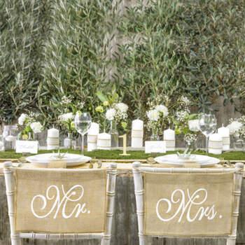 Decoración Silla Boda Mr y Mrs- Compra en The Wedding Shop