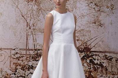 Románticos vestidos de novia Monique Lhuillier colección otoño 2014