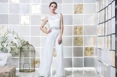 Pantaloni palazzo per la sposa 2017: audace che piace