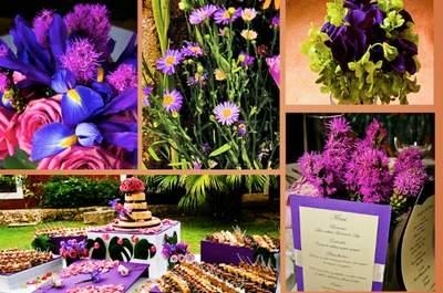 Color Block na mesa do seu casamento