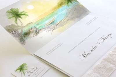 Quer uma identidade visual linda, personalizada e com um design único para o seu casamento? Nós te dizemos como!