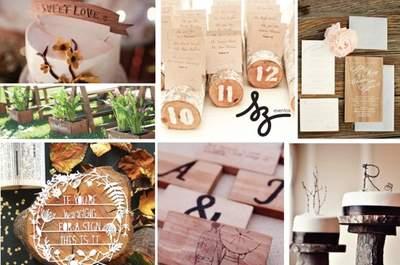 Collage de inspiración para decorar con detalles de madera