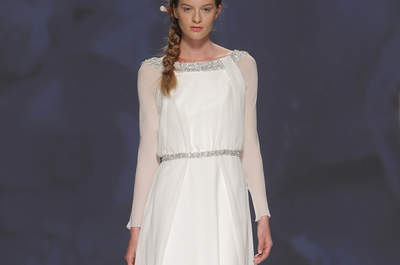Vestidos de novia con manga larga, apuestas otoñales bastante elegantes